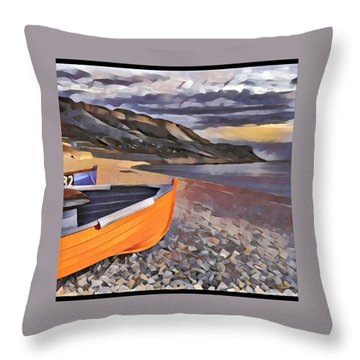 Portland Chesil Beach Throw Pillow
