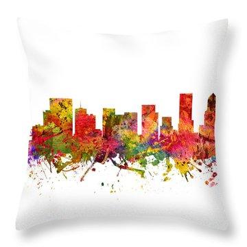 Portland Cityscape 08 Throw Pillow