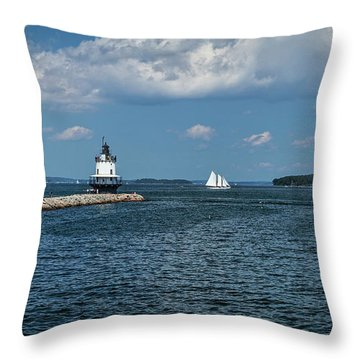 Portland Harbor, Maine Throw Pillow