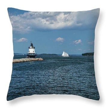 Portland Harbor, Maine Throw Pillow