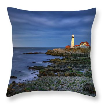 Portland Head Aglow Throw Pillow