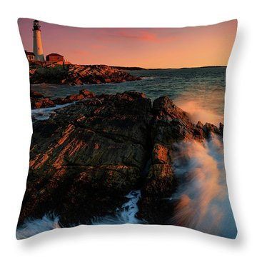 Throw Pillow featuring the photograph Portland Head First Light  by Emmanuel Panagiotakis