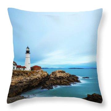 Portland Head Light 1 Throw Pillow