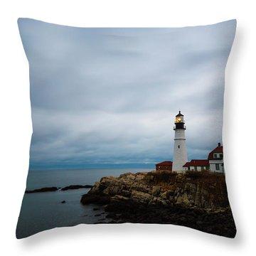 Portland Head Light 2 Throw Pillow