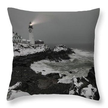 Portland Head Light Beacon  Throw Pillow