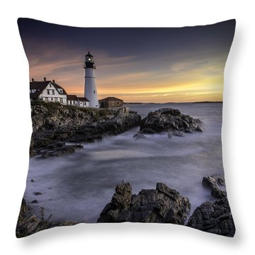 Portland Head Light Throw Pillow