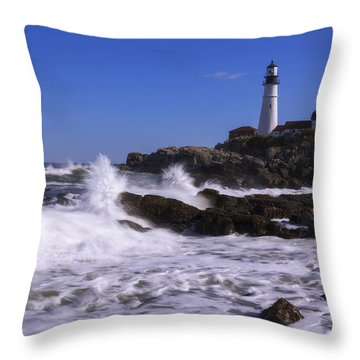 Portland Head Light I Throw Pillow