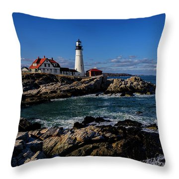 Portland Head Light No.32 Throw Pillow
