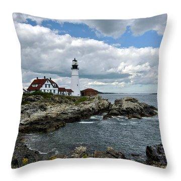 Portland Head Light, Starboard Throw Pillow