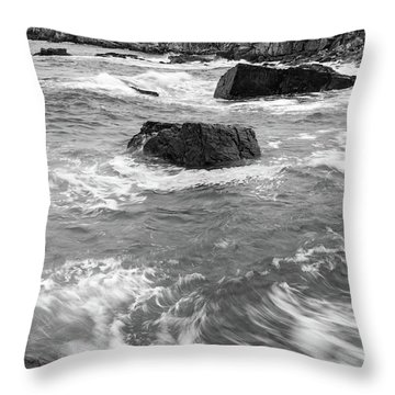 Throw Pillow featuring the photograph Portland Head Light Under Heavy Skies  -88356 by John Bald