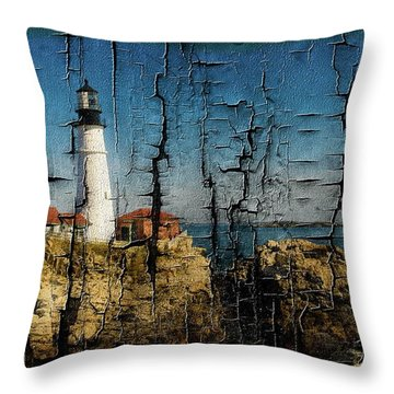 Portland Head Lighthouse 5 Throw Pillow by Sherman Perry