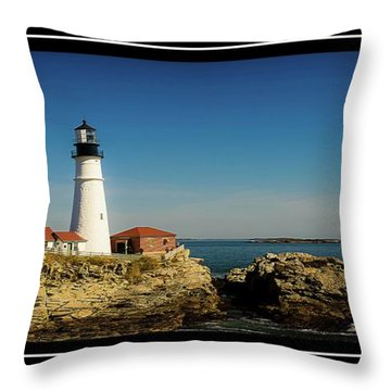 Portland Head Lighthouse 7 Throw Pillow by Sherman Perry