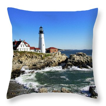 Portland Head Throw Pillow