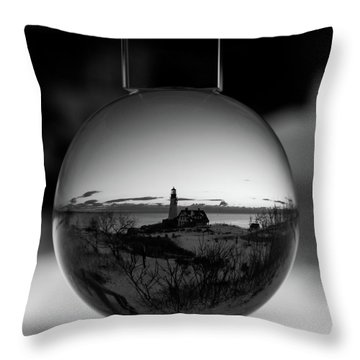 Portland Headlight Globe Throw Pillow