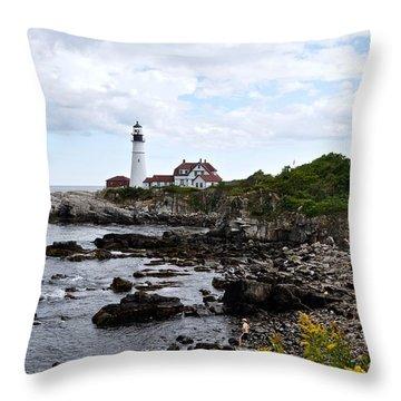 Portland Headlight II Throw Pillow