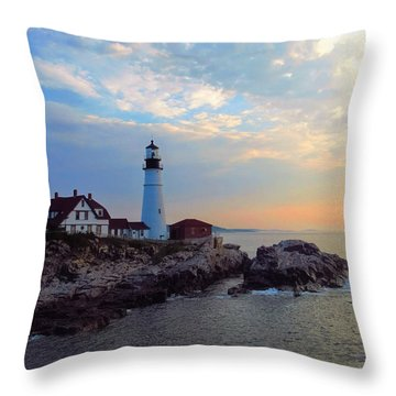 Portland Headlight Throw Pillow