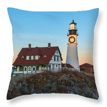 Portland Headlight V Throw Pillow