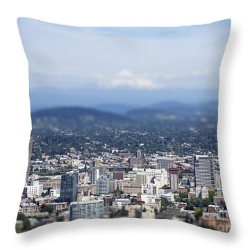 Portland In Perspective Throw Pillow
