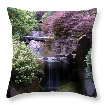 Portland Japanese Garden Throw Pillow