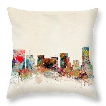 Portland Oregon City Skyline Throw Pillow