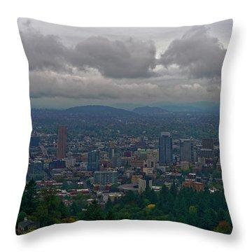 Throw Pillow featuring the photograph Portland Overlook by Jonathan Davison