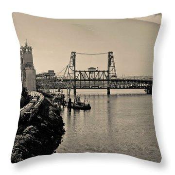 Portland Steel Bridge Throw Pillow
