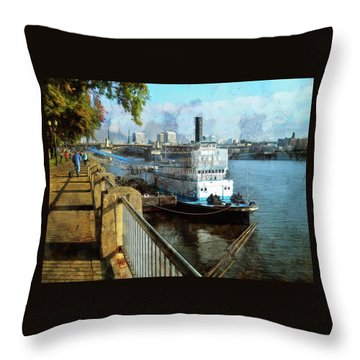 Portland Sunday Walk Throw Pillow