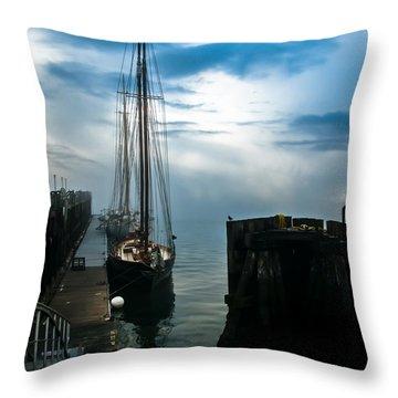 Portland Sunrise Throw Pillow by Bob Orsillo
