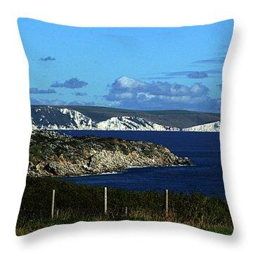 Portland To Weymouth  Throw Pillow by Stephen Melia