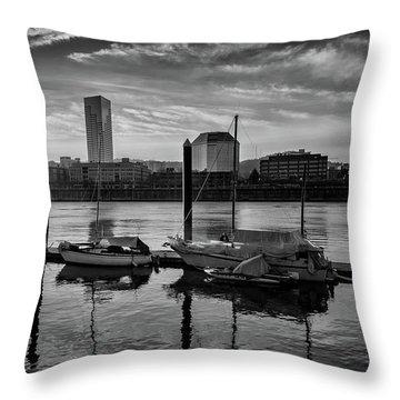 Portland Waterfront  Throw Pillow