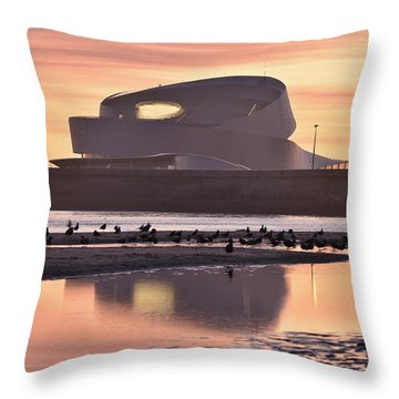Porto Marina Throw Pillow by Marek Stepan