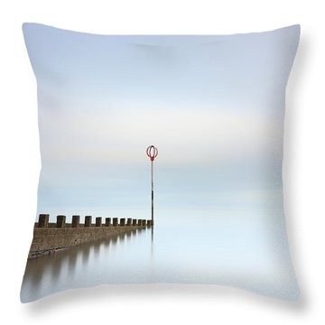 Throw Pillow featuring the photograph Portobello Long Exposure by Grant Glendinning