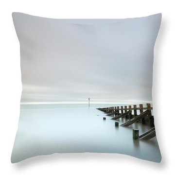Throw Pillow featuring the photograph Portobello Sea Groynes by Grant Glendinning