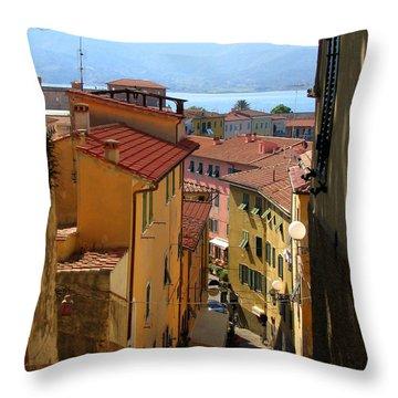 Portoferraio Elba Throw Pillow