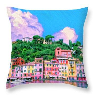 Portofino Throw Pillow by Dominic Piperata