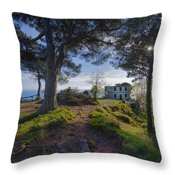 The House Of The Rising Sun In Portofino Throw Pillow
