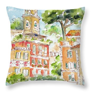 Portofino Piazetta Throw Pillow