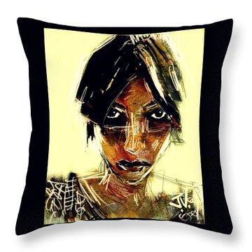 Portrait 08oct2015 Throw Pillow by Jim Vance