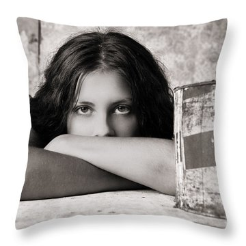 Portrait #350479 Throw Pillow