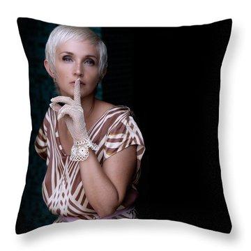 Portrait #4713 Throw Pillow