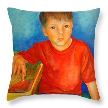 Portrait Andres Throw Pillow