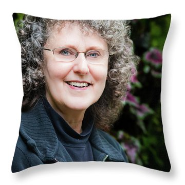 Portrait In The Leaves Throw Pillow
