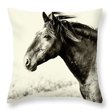 Portrait Throw Pillow by Mary Hone