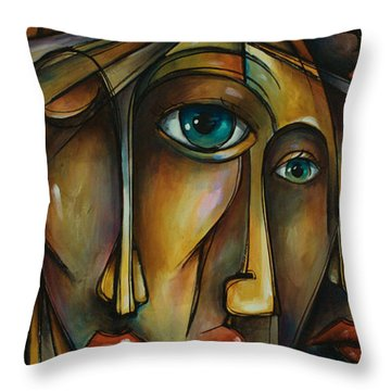 Portrait Throw Pillow by Michael Lang