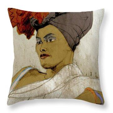 Portrait Of A Caribbean Beauty Throw Pillow