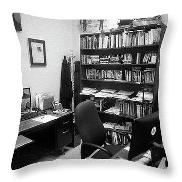Portrait Of A Film/tv Professor's Office Throw Pillow