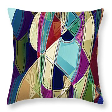 Portrait Of A Friend Throw Pillow