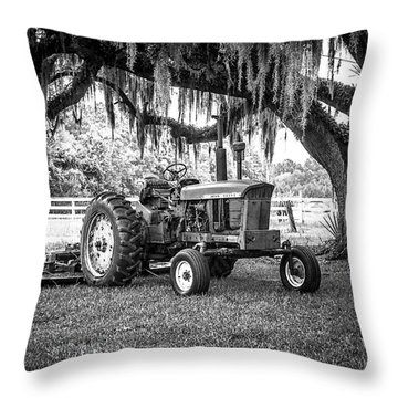 Portrait Of A John Deere Throw Pillow