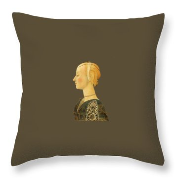 Throw Pillow featuring the digital art Portrait Of A Lady by Asok Mukhopadhyay