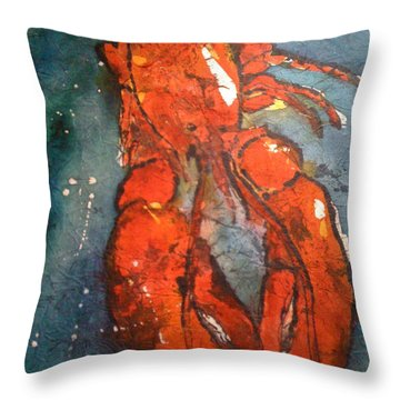 Portrait Of A Lobster Throw Pillow